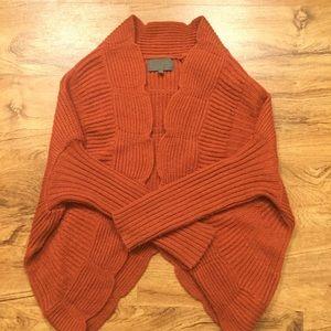 Anthropologie burnt orange sweater